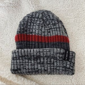 Cotton On Beanie | Gray & Red